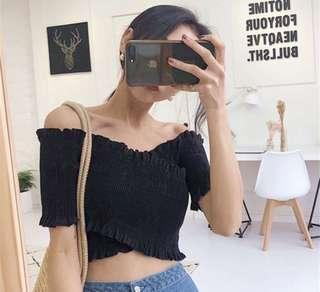 Off Shoulder Top (in Black)