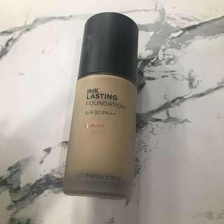 Face shop ink lasting foundation shade 201