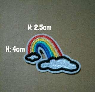 🚚 Cute rainbow embroidery badge pin brooch