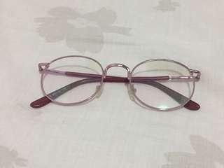 Rose Gold Glasses (Faux glass/replaceable lens)
