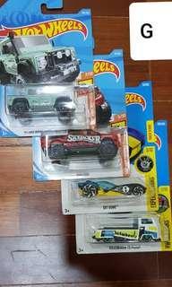 Hotwheels die-cast car set