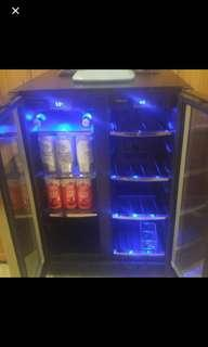 DANBY BEVERAGE FRIDGE Has keys to lock. Temperature fluctuates sometimes but easy fix for a handy person. $500 OBO