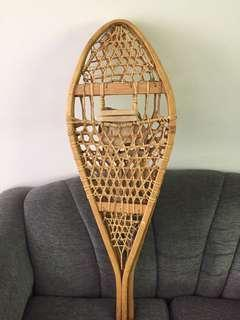 Antique snowshoes made in Canada. Never used, excellent condition. Great to use or hang on a wall.
