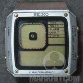 SEIKO G757-401B James Bond TYPE 80's Golden Eyes version sell as a part ONLY !!
