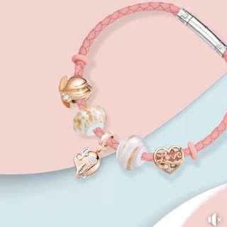 六福珠寶Dear Q 18K金鑽石串飾 手鏈