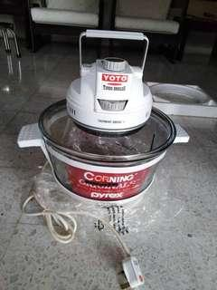 Turbo broiler with corning ware