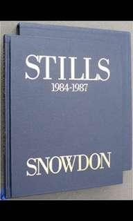 Stills 1984-1987 by Snowdon. Numbered and signed. Excellent condition
