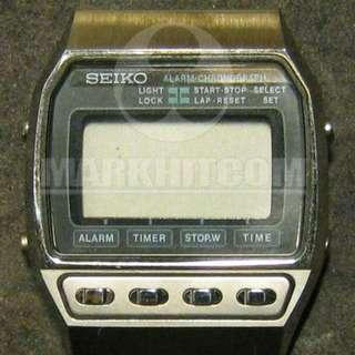 SEIKO A547-5040 LCD DIGITAL ALARM-CHRONOGRAPH Watch 80's sell as a part ONLY !!!