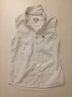 JACK WILLS White Sleeveless Shirt