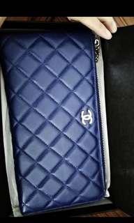 Chanel wallet royal blue