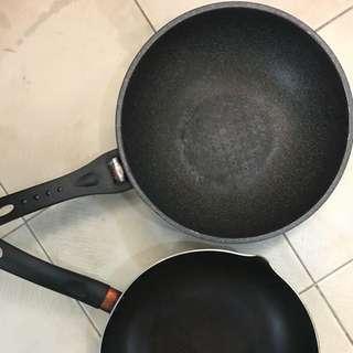 K-art and tefal wok