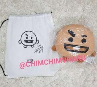 BTS BT21 Official Shooky Face Cushion (30cm) - SUGA Character (Clear stock)