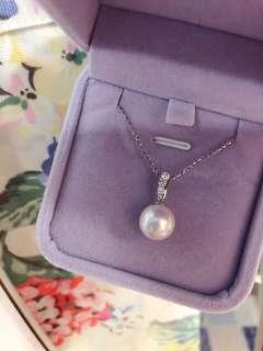 18K 南洋珍珠鑽石吊咀