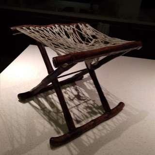 antique blackwood  stool