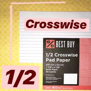 1/2 Crosswise Pad Paper (Pack of 2)