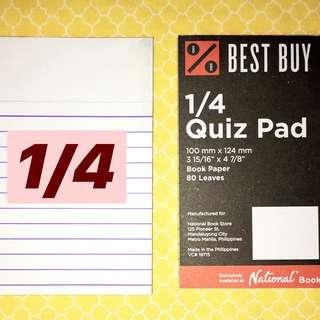 1/4 Pad Paper (Pack of 2)