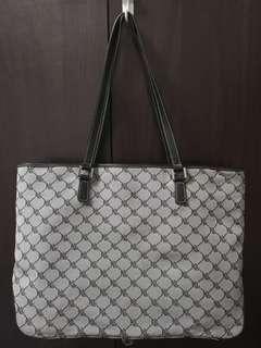Ralph Lauren Signature Grey and Black Tote Bag