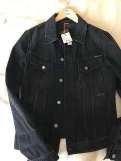 Nudie billy black lotus denim jacket ori