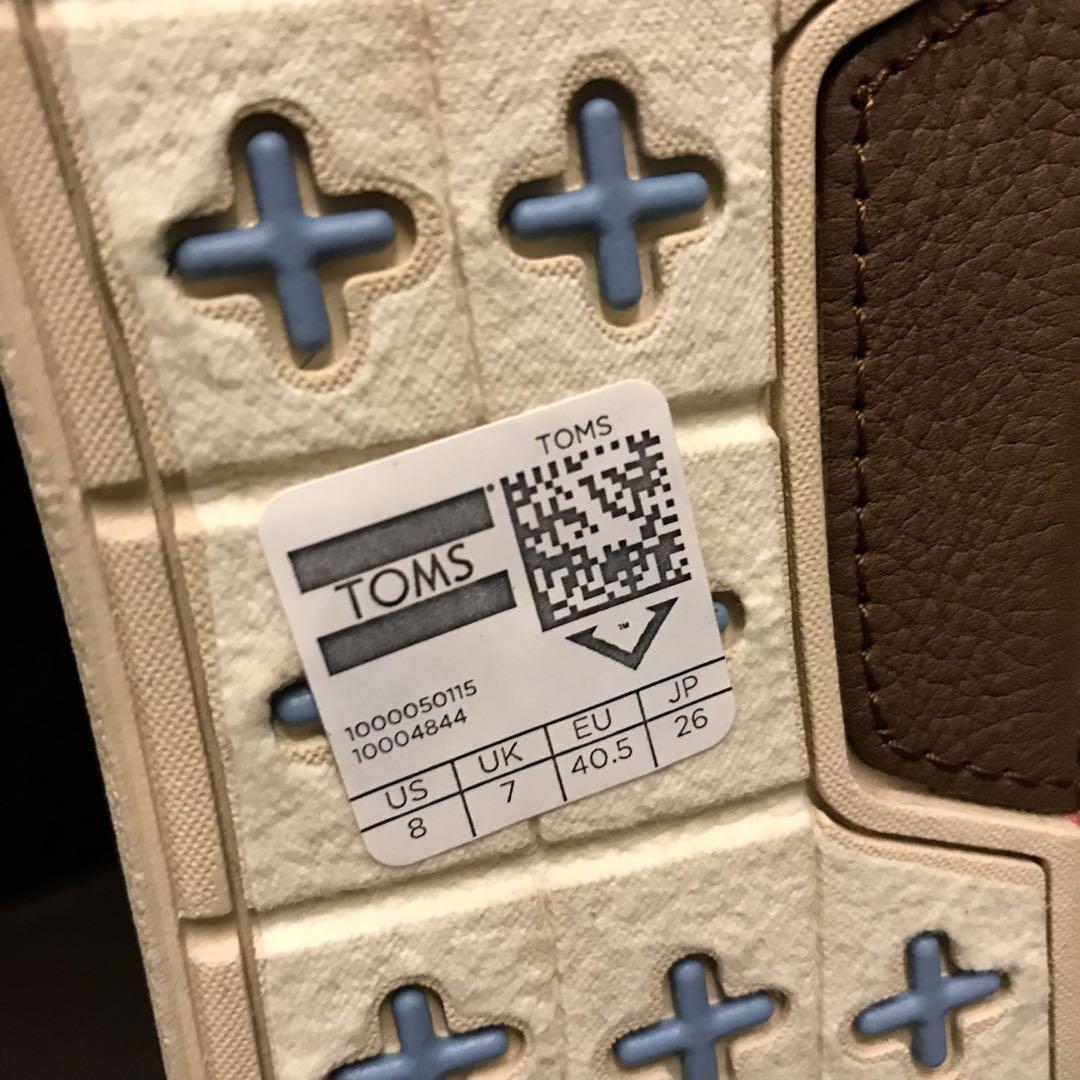 全新正品 TOMS 米白色男裝布鞋 帆布鞋  TOMS canvas white beige men shoes sneakers