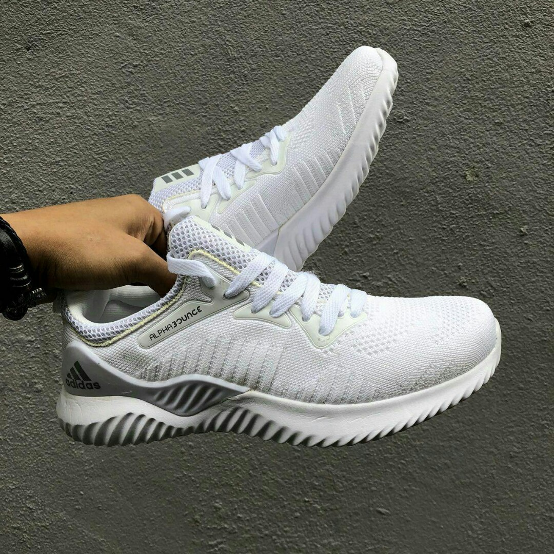 caa04666bd5eb Adidas Alphabounce Beyond All White