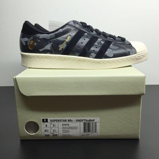 Adidas Consortium X Undefeated X Bape Superstar 80v Black