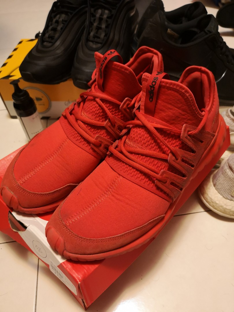 online store 81869 8a0bd adidas Originals Tubular Radial SOLAR RED
