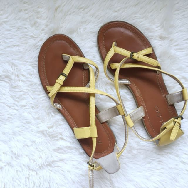 daa64737cfdd Aldo Yellow Summer Sandals