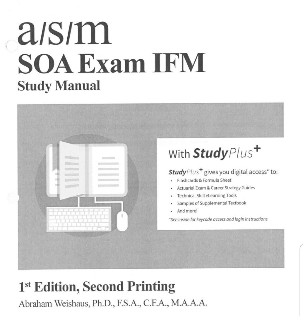ASM SOA IFM Study Notes 1st Edition (New Syllabus), Books