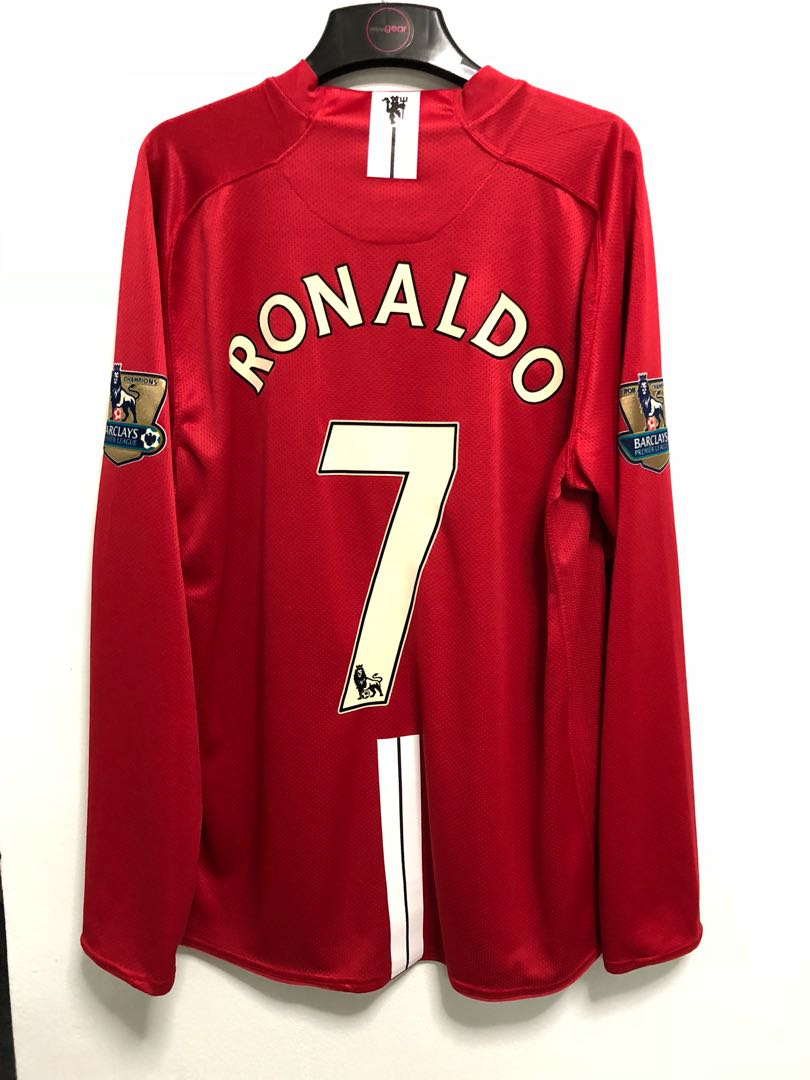 713a98871 Authentic Manchester United 08 09 player issue domestic home L S ...