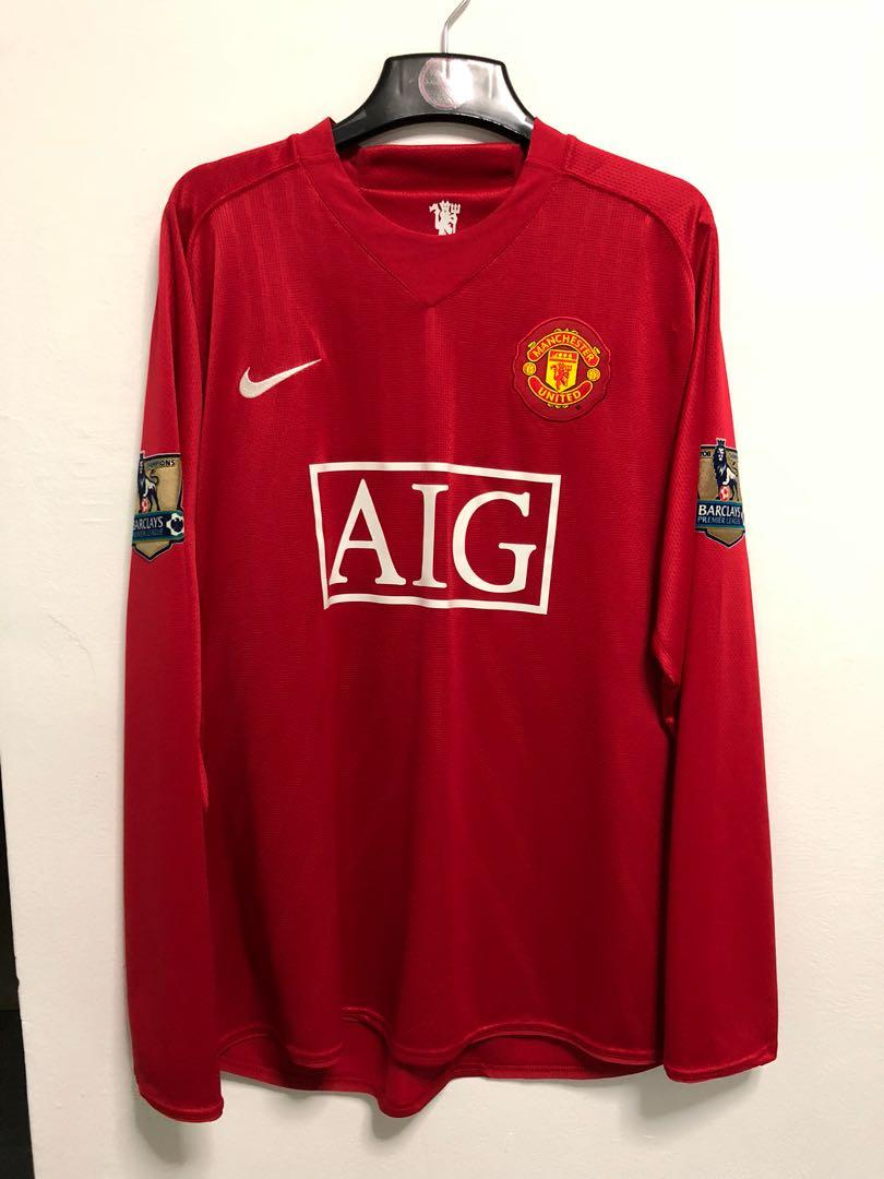 huge selection of 6d101 35512 Authentic Manchester United 08/09 player issue domestic home ...