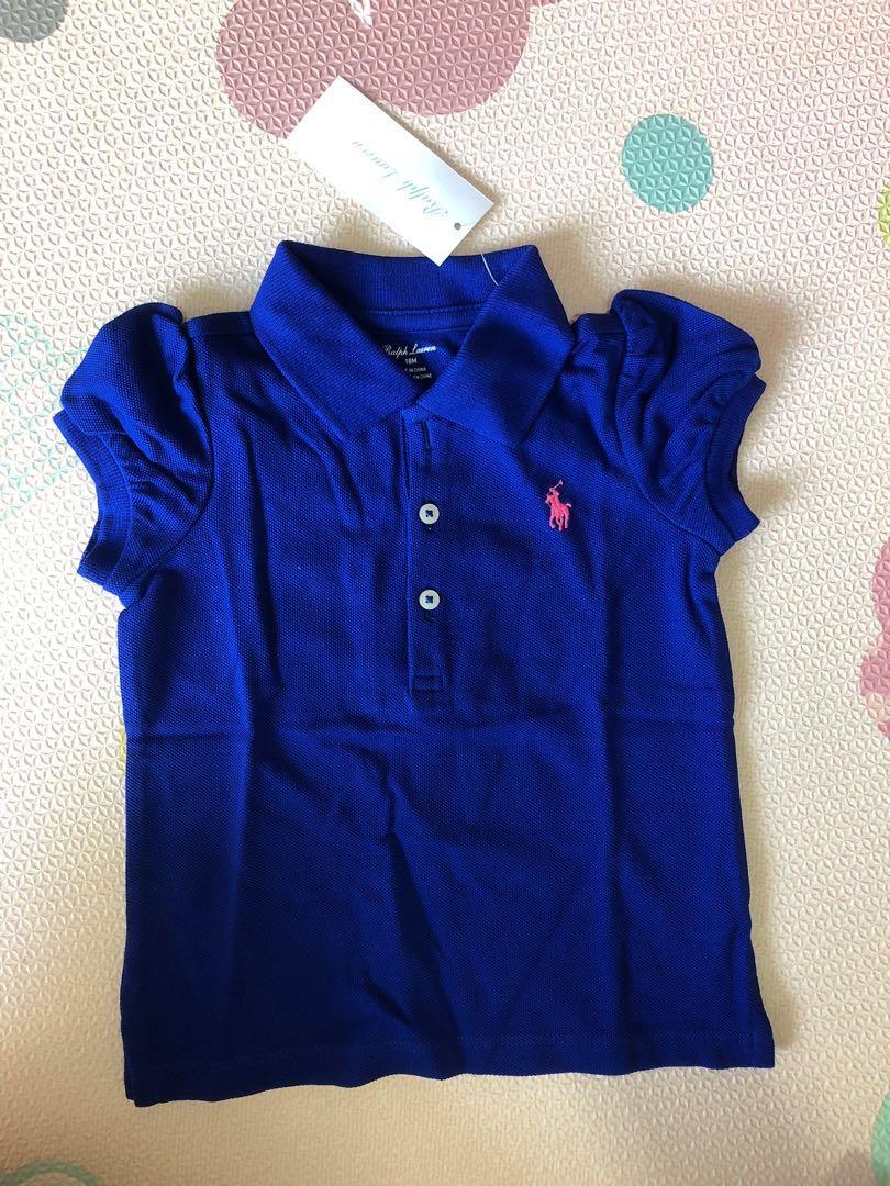 cadc69e8 Baby Girl Royal blue Ralph Lauren Polo Tee, Babies & Kids, Girls ...