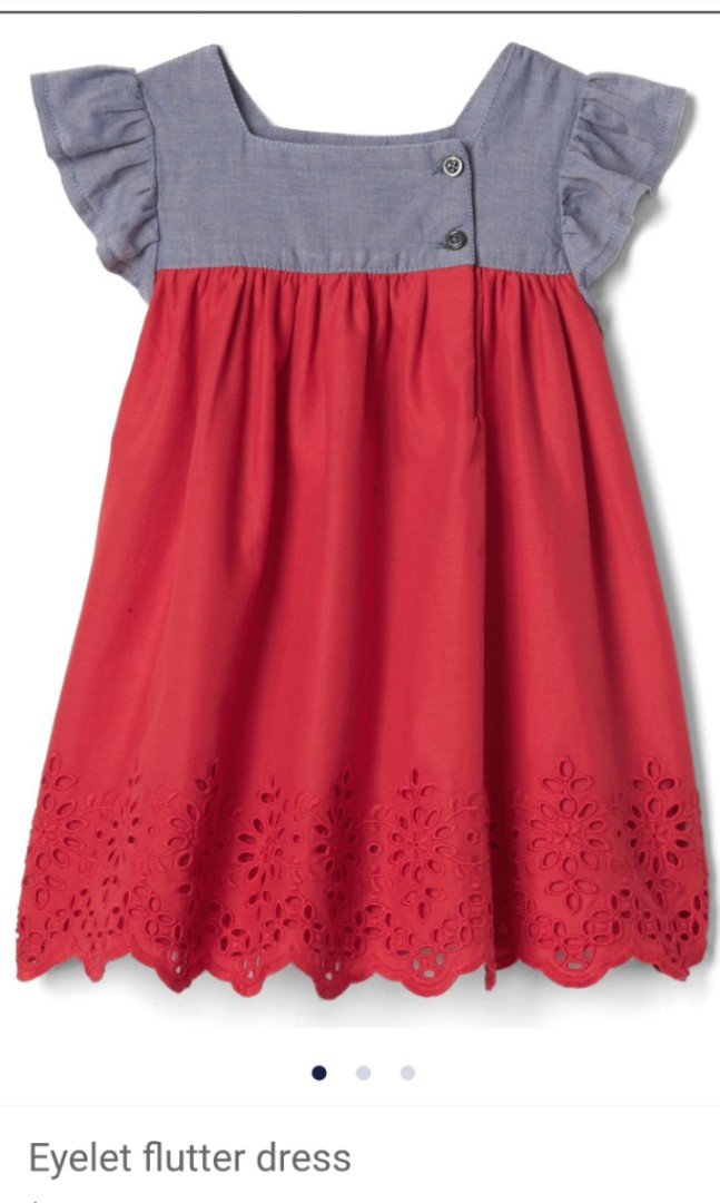 079deaeb93e BN (12-18M) Baby Gap Eyelet Flutter Dress
