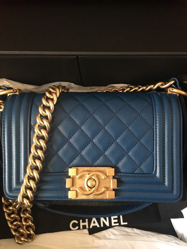 Bn Chanel boy in caviar Ghw 5b5f250d78307