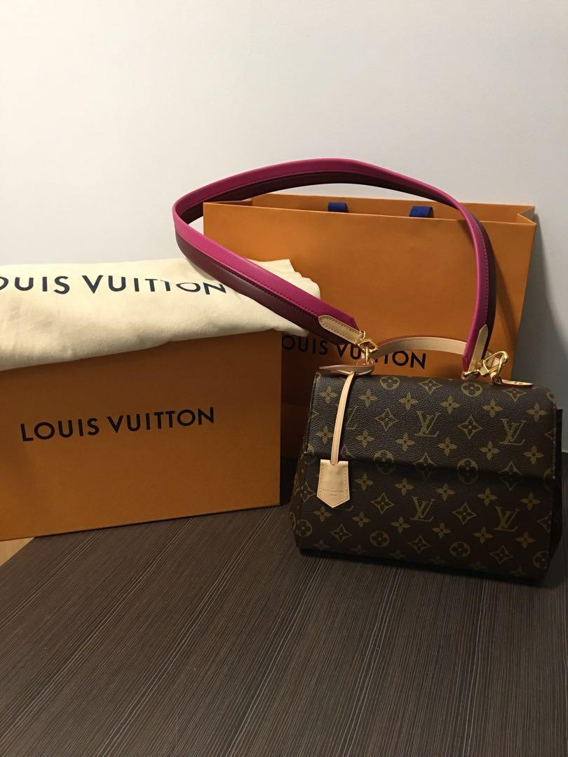 c67faa25d0b BNIB full set LV Cluny BB with pink strap, Luxury, Bags & Wallets ...