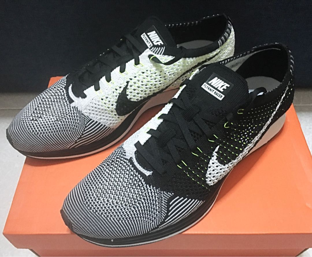 d0a7f18d45cc BNIB Nike Flyknit Racer Oreo Size US 12
