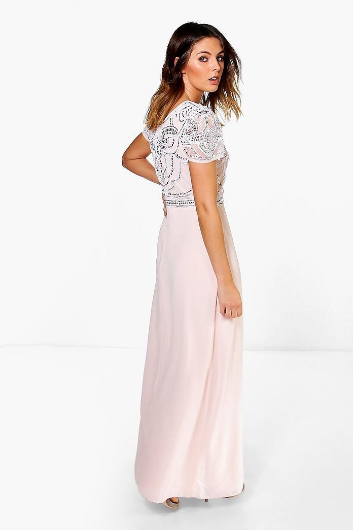 bbbbc6d3d9d25 Boohoo Boutique Sequin Glam Maxi Dinner Dress #H&M50
