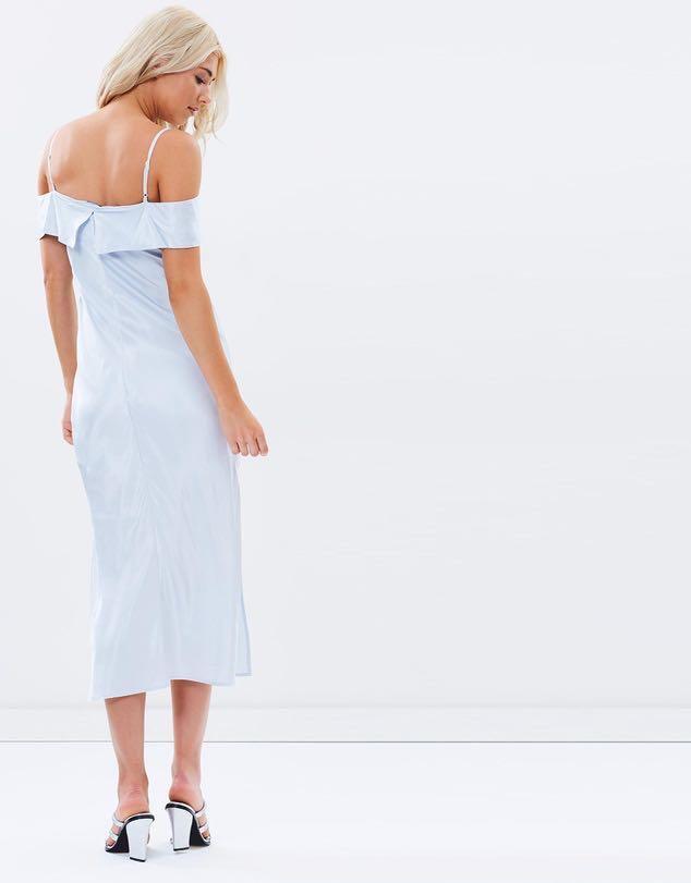 Cold shoulder slip dress