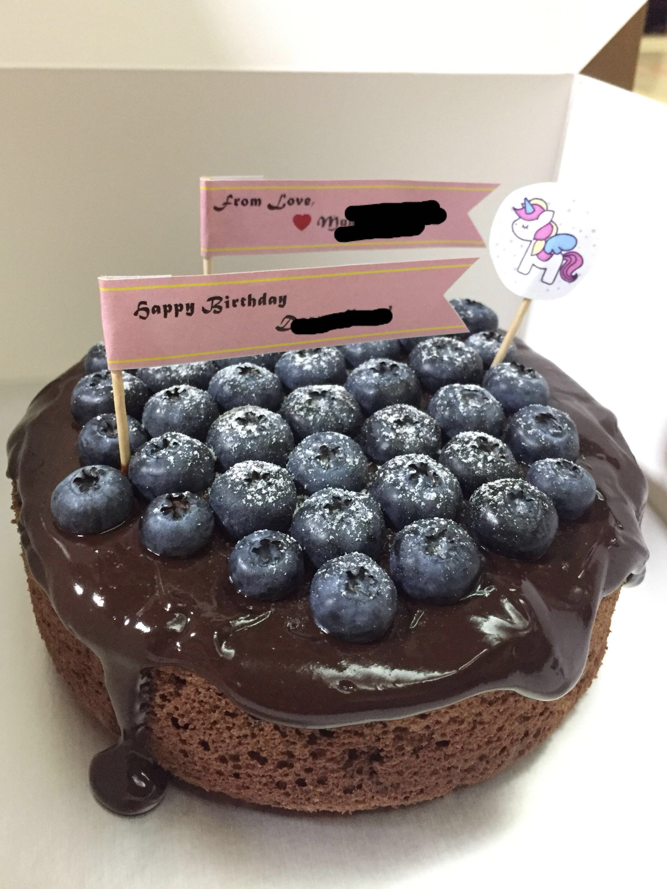 Dark Chocolate Birthday Cake Food Drinks Baked Goods On Carousell