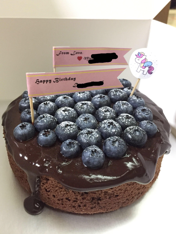 Dark Chocolate Birthday Cake Food Drinks Baked Goods On Carousell