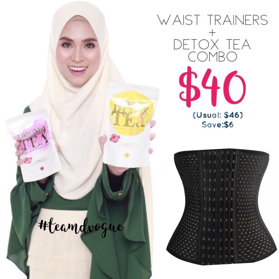 0e52526efc Detox teas combo waist corset