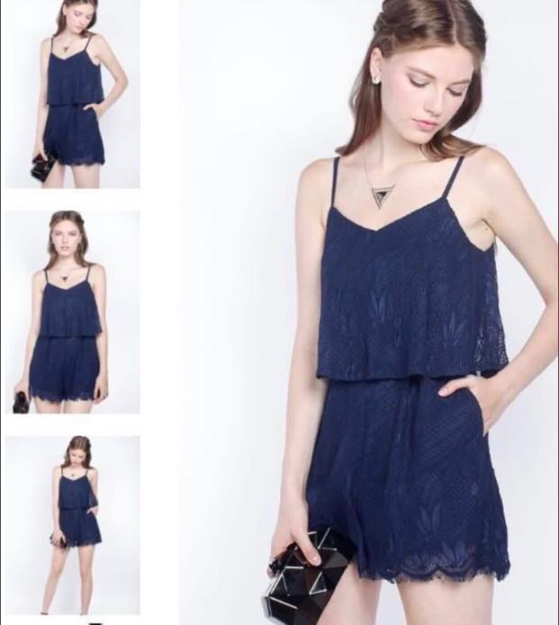daaa0386ea8 Fayth Quintelle Lace Playsuit