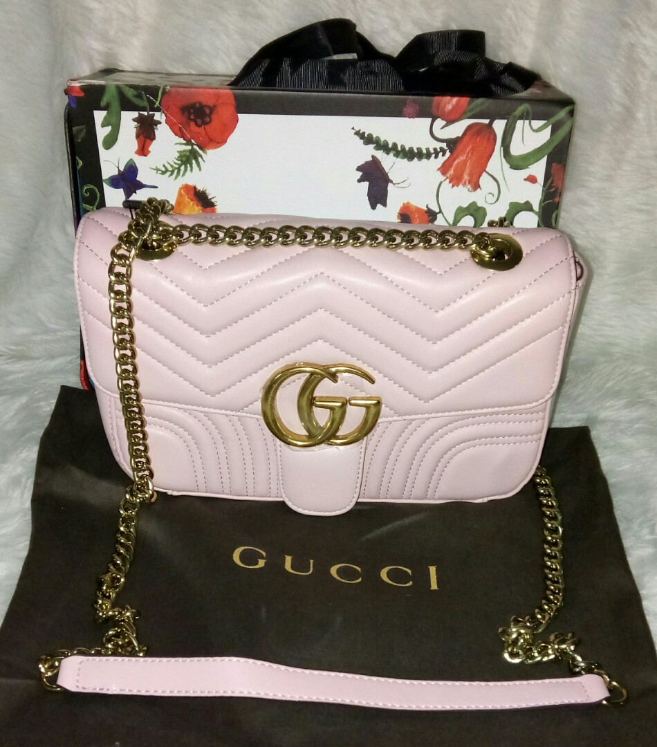 GUCCI W/Code \u0026 Gold Chain \u0026 Authentic Quality.. Sling Bag
