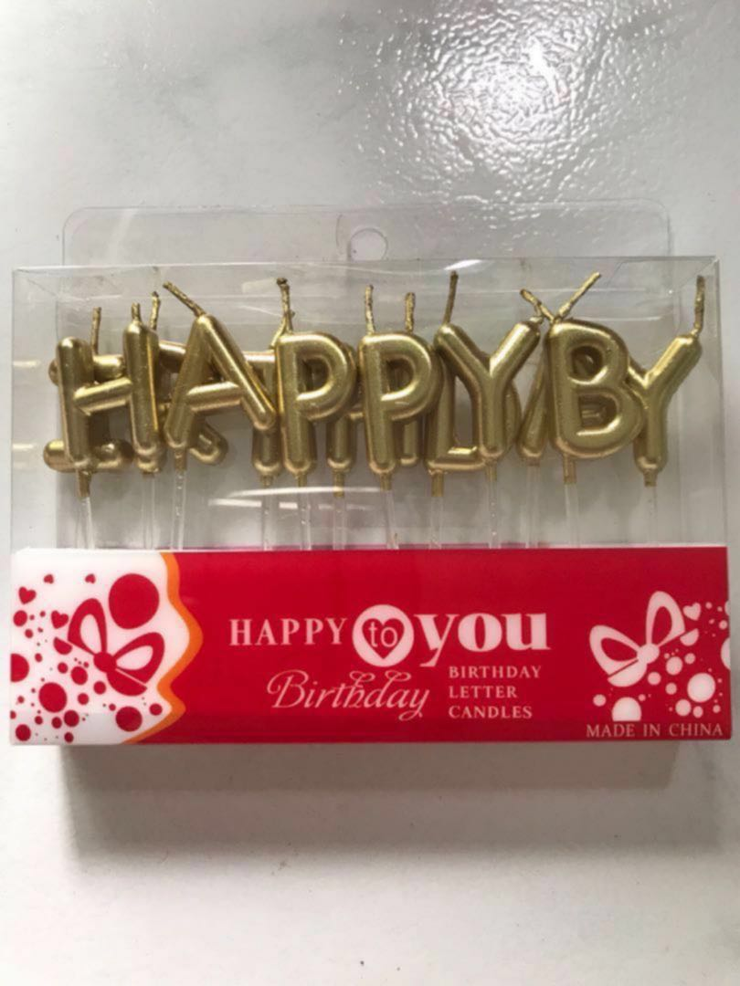 Happy Birthday Candles Design Craft Others On Carousell