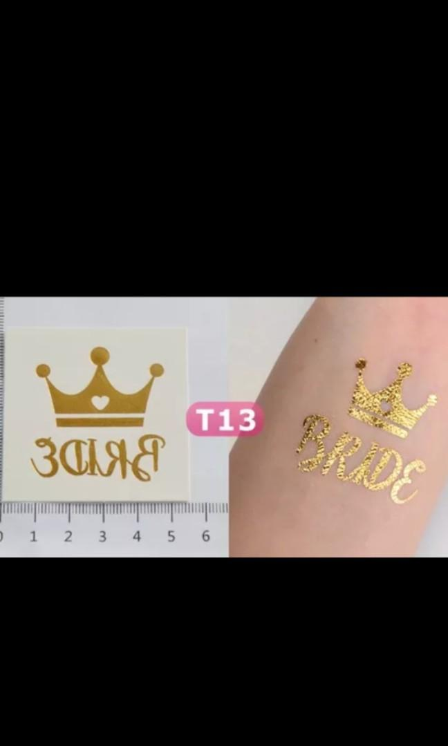 Hen's Night Bride Tribe and Bride Tattoos