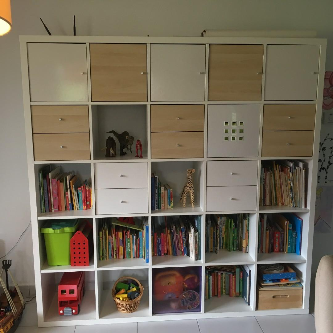 new concept 3789a a848e Ikea Kallax 5X5 cube with drawers and doors, Furniture ...