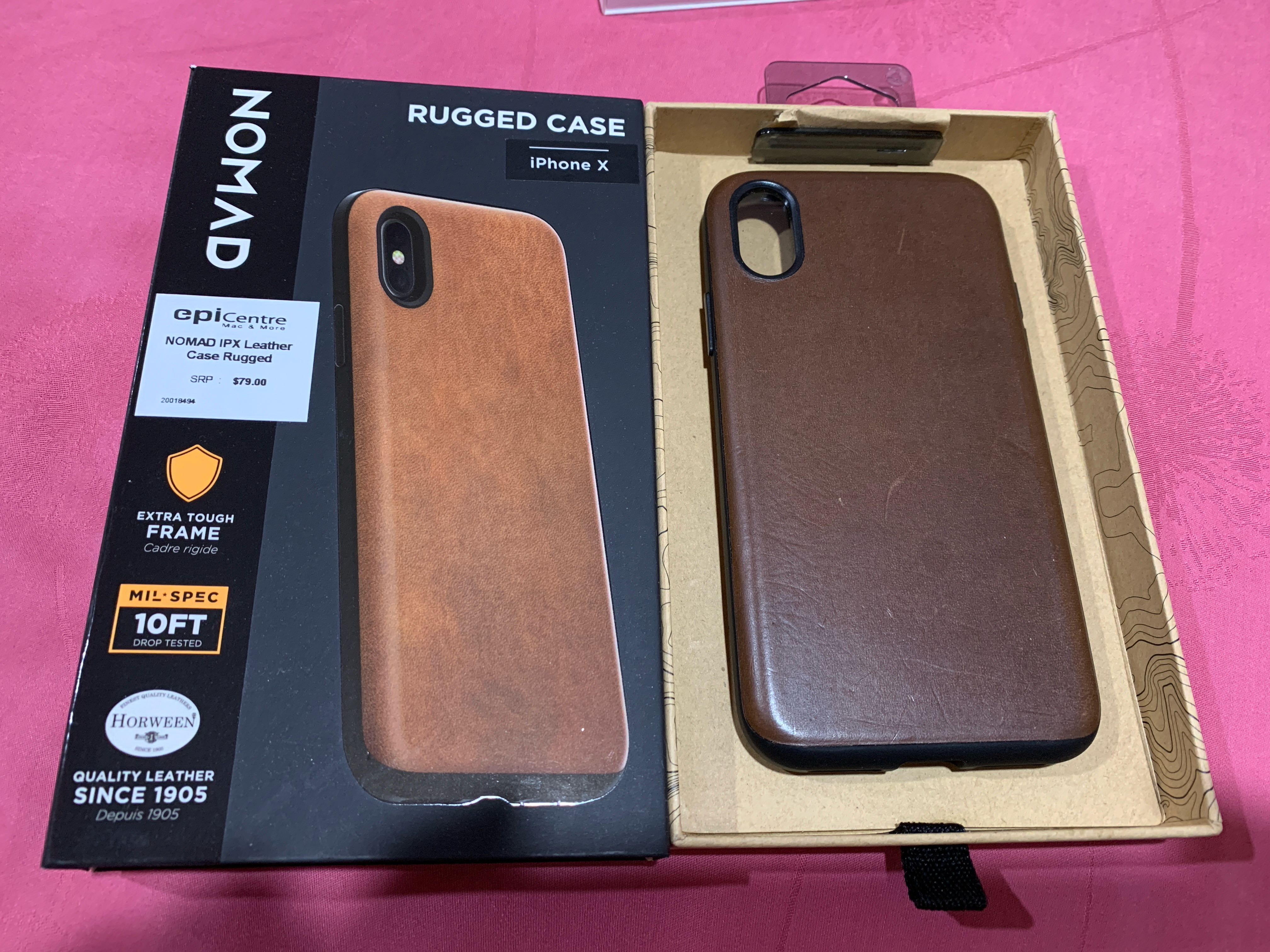 official photos e4f04 7e808 iPhone X Nomad Rugged Leather Case