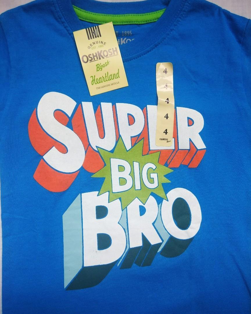 Kaos anak oshkosh super big bro size 4