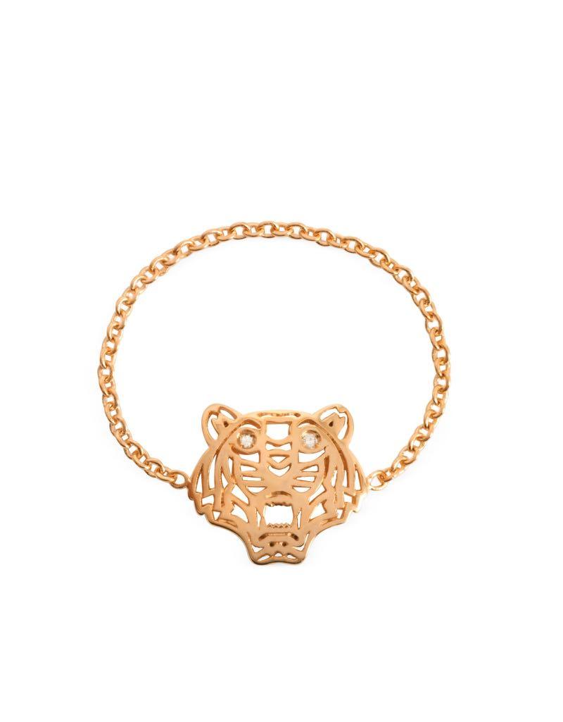 ecbeea069a Kenzo Gold Plated Mini Tiger Ring, Women's Fashion, Jewellery, Rings ...