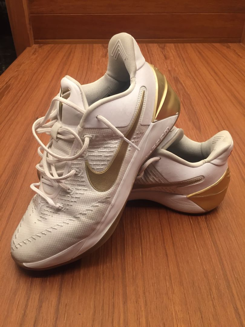 d26ee2966517 Kobe AD White Gold Basketball Shoes