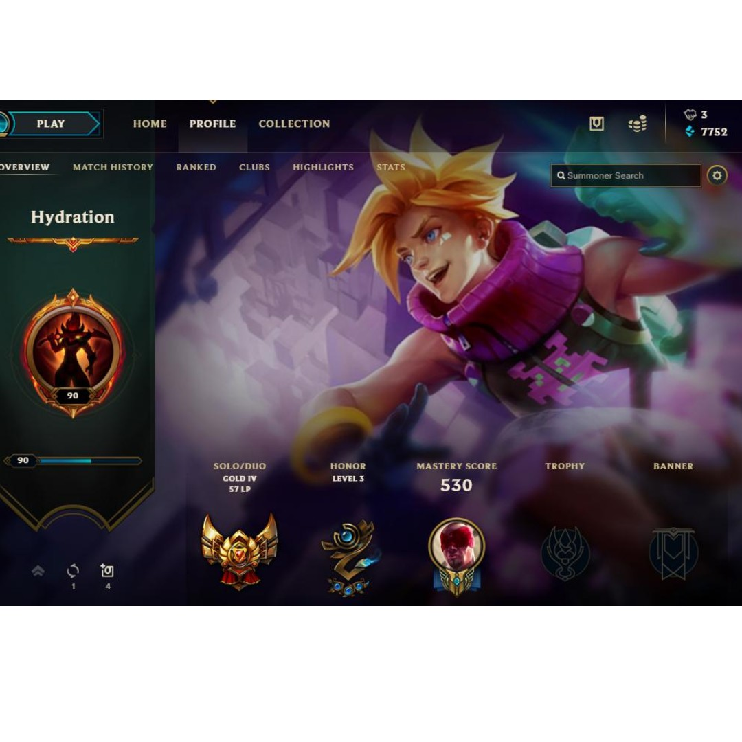 League Of Legends Sg Server Gold 4 Account Toys Games Video Gaming Video Games On Carousell